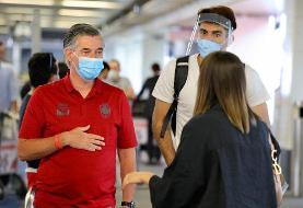 تصاویر   استقبال از بیرانوند در فرودگاه بروکسل