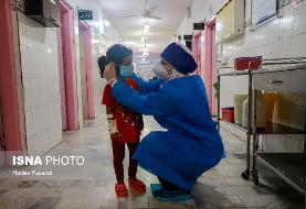 عکس/ بستری کودکان مشکوک به کرونا در گرگان