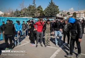 دستگیری ۱۷۱ خرده فروش و جمع آوری ۵۱۵ معتاد متجاهر در تهران