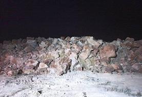 رانش زمین و ریزش کوه در شیراز | تخلیه حدود ۴۰ منزل مسکونی