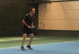 رقابت علی کریمی و اسکوچیچ در زمین تنیس/عکس
