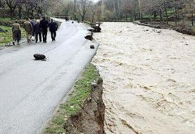 ۲ کشته ومفقودی براثر بارش سیل آسا/ راه ۲ روستای آمل مسدود است
