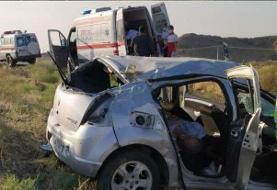 واژگونی ساندرو در محور میامی-سبزوار حادثه آفرید/ یک نفر جان باخت