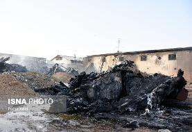 (تصاویر) آتشسوزی در کارخانه لنجسازی بوشهر