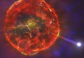 ستارهای که پس از انفجار