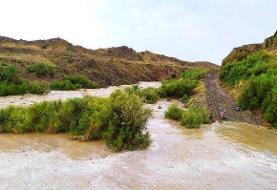 بارندگیهای شدید به جاده سراوان- خاش خسارت وارد کرد
