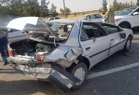 نجات معجزهآسای راننده پژو پس از تصادف در اتوبان تهران-قم