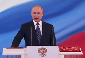 رهبری پوتین تا سال ۲۰۳۶ تمدید میشود: تصاویر شرکت پوتین بدون ماسک در همهپرسی