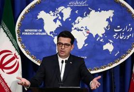 سخنگوی وزارت خارجه: ظریف با خط تلفنی امن یک ساعت با پوتین رایزنی کرد