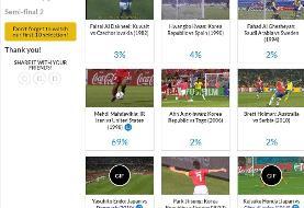 گل مهدویکیا به آمریکا نامزد برترین گل آسیاییها در تاریخ جام جهانی/عکس
