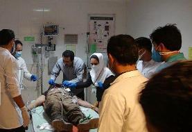 یک مصدوم حادثه معدن گیلانغرب در بیمارستان بستری است