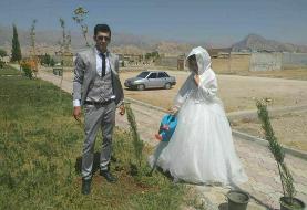 کاشت نهال بجای جشن عروسی در شرایط کرونا