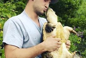 (ویدئو) عاقبت بوسیدن لاکپشت گازگیر!