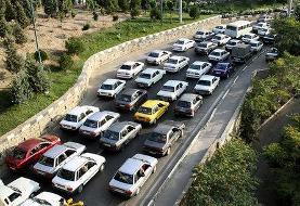 ترافیک نیمه سنگین در جاده کرج