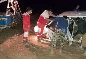 فیلم | انسداد جاده مشهد - تهران پس از سیل و امدادرسانی به خودروها