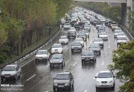ترافیک سنگین از قزوین تا تهران