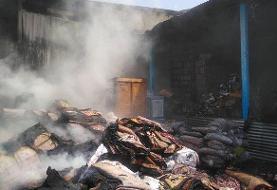 آتش سوزی گسترده در انبار کالا در خیابان فدائیان اسلام