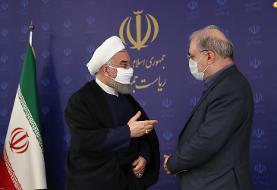 (تصاویر) حسن روحانی هم ماسک زد