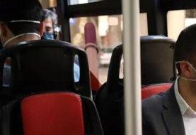 اتوبوسرانی: اکثر مسافران امروز در ناوگان اتوبوسرانی ماسک زدند