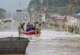 احتمال مرگ ۱۸ تن بر اثر وقوع سیل در ژاپن