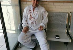 شکستن دست پزشک متخصص به خاطر نپذیرفتن دفترچه بیمه +عکس