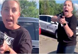 A white woman who pointed her gun at a Black woman and her 15-year-old daughter outside a ...