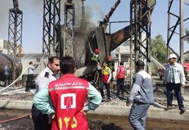 مدیر نیروگاه: آتشسوزی نیروگاه شهید مدحج اهواز (زرگان) تلفات جانی نداشته است (+عکس)