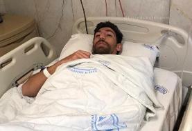 مهاجم تیم فوتبال استقلال از بیمارستان مرخص شد