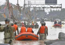 تصاویر | ۵۰ کشته و ناپدید در سیل مرگبار ژاپن