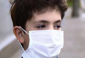 کودکان هرمزگانی در هوای گرم و شرجی جنوب ماسک میزنند