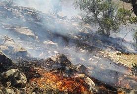 مهار آتشسوزی خائیز پس از هشت ساعت