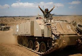رزمایش ارتش اسرائیل در مرز غزه