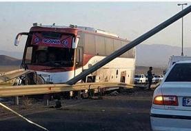 ۲ کشته و ۲۳ مصدوم در تصادف جاده کرج (+عکس)