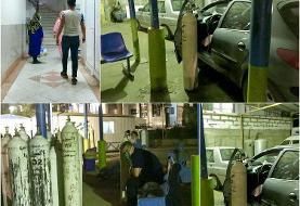 (تصویر) بستری شدن بیماران کرونایی در پارکینگ بیمارستان مسیح دانشوری