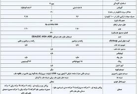 خودروی جدید ایران خودرو را بشناسید | جدول ویژگیهای K۱۳۲