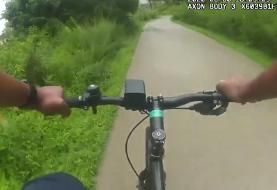 'Let me borrow your bike': Atlanta police officer takes passing man's bicycle to chase fleeing ...