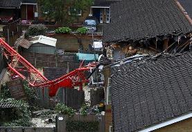 سقوط مرگبار جرثقیل در لندن (+عکس)