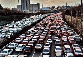میزان تردد در جادههای کشور در ۱۹ تیر ماه