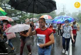 (تصاویر) تظاهرات علیه پوتین در خاباروفسک