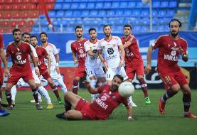 تساوی پرسپولیس مقابل نساجی پس از قهرمانی در لیگ برتر