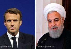 مکرون به روحانی: مداخله خارجی در لبنان باید پایان یابد