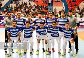 امتیاز تیم فوتسال ارژن در فارس می ماند