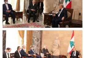 سفر ظریف به بیروت / دیدار با رئیس جمهوری لبنان