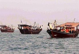 توقیف یک موتور لنج و پنج قایق بی هویت در آبهای خلیج فارس