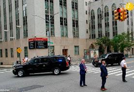 (تصاویر) ترامپ برای عیادت برادرش به بیمارستان رفت