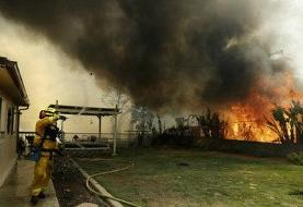 هزاران هکتار از زمینهای کالیفرنیا در آتش سوخت