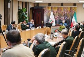 حضور سردار عراقی زاده در قرارگاه پدافند زیستی کشور