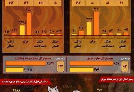 اینفوگرافیک / آتشسوزیهای جنگلی در خرداد ۹۹ نسبت به خرداد ۹۸