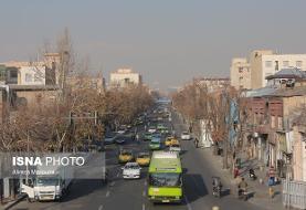 کیفیت هوای تهران «ناسالم» برای گروههای حساس