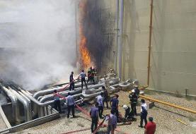 آتشسوزی در نیروگاه سیکل ترکیبی شهید باکری سمنان به وقوع پیوست